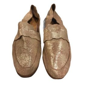 Lucky Brand Gold Loafers